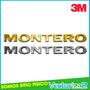 Emblema Montero Dakar Mitsubishi Diseño Original Al Relieve