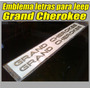Emblema Letras 3d ( Relieve ) Para Jeep Grand Cherokee