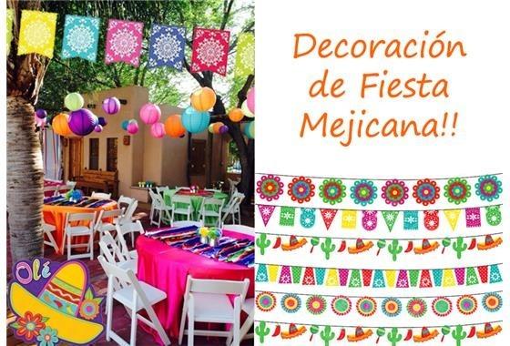 Accesorios para fiesta con motivo mexicano