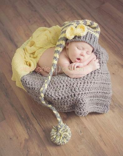 accesorios gorros craps tejidos y todo para bebes rn