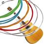 Juego De Cuerdas De Acero Para Guitarra En Colores