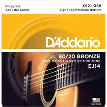Cuerdas De Guitarra Acustica Daddario Bluegrass Bronze 12-56