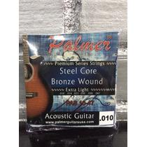 Cuerdas Palmer Para Guitarra Acústica O Electroacustica .010