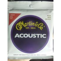 Cuerdas Martin & Co. Light 0.12 - 0.54 Guitarra Acustica