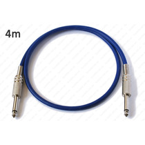 Cable Para Guitarra Eléctrica O Instrumento Plug 1/4 Mono 4m