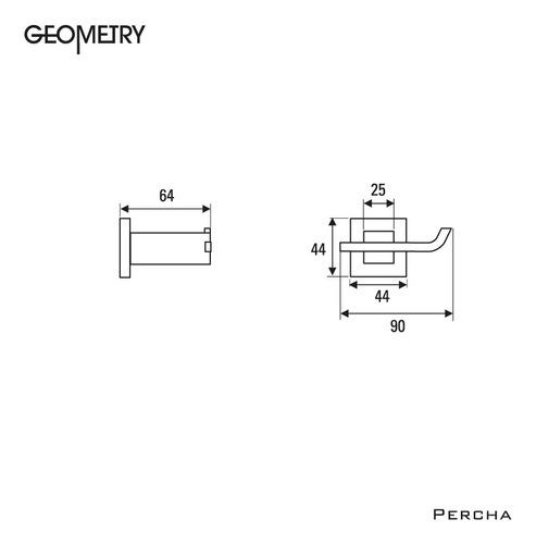 accesorios hidromet percha geometry cromado