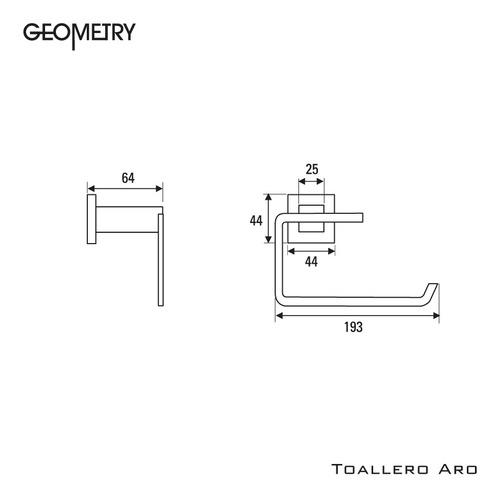 accesorios hidromet toallero aro geometry cromado