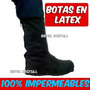 Impermeables Calzado Bota Latex Moto