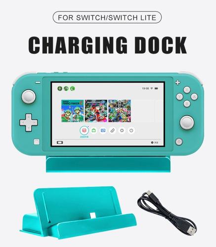 accesorios juegos nintendo switch lite dock cargador