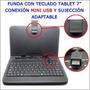 Estuche-teclado De Usb En Español Tablet De 7 Pulgadas