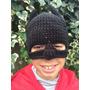 Gorro De Batman De Lana A Crochet Hecha A Mano