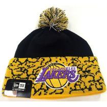 Los Angeles Lakers New Era Beanie Gorro Lana Pom Nba