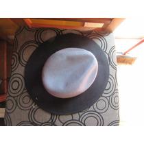 Sombrero Fedora Negro Con Plomo. Nuevo