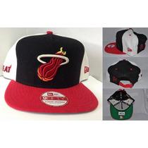 Miami Heat New Era Strapback Exclusivos Gorros Importado Nba