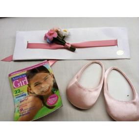 d0132a072e6 Zapato Ballerina Rosa Y Liston Cabeza American Girl Accesori