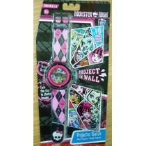 Monster High Reloj Proyector Digital Niña Import Original