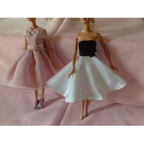 c51283db79 Vestidos Para Muñeca Tipo Barbie 6 Piezas