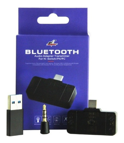 accesorios nintendo switch conector auricular bluetooth