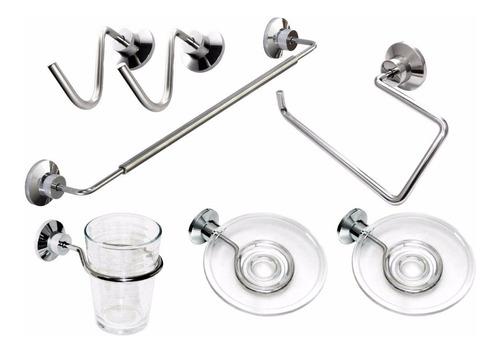 accesorios para baño   acero inoxidable / cristal transparen