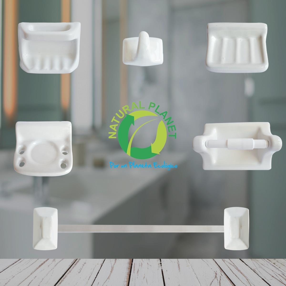 Accesorios Para Baño Cerámica 9 Piezas Blanco Mejor Calidad ... e6573dde992d