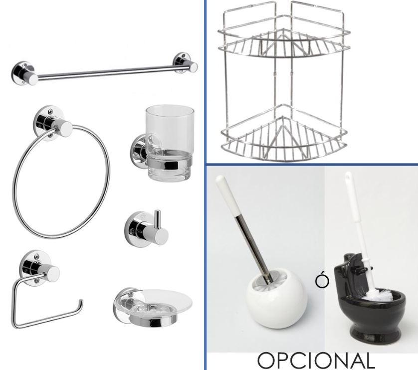 accesorios para baño fv arizona +escobilla+ esquinero ducha. Cargando zoom. 60615a6621ec
