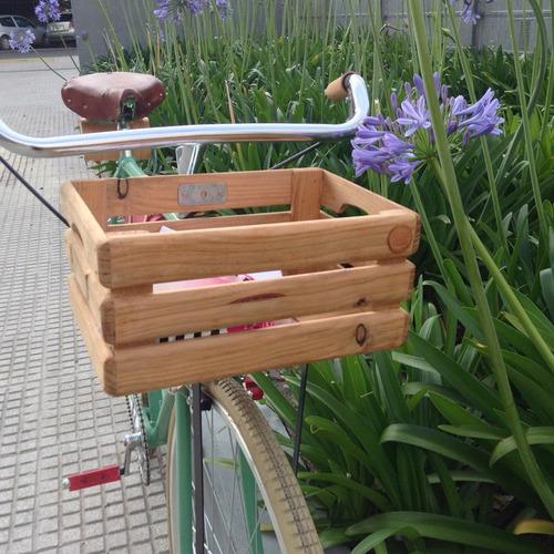 accesorios para bicicletas cajon old de madera canasto