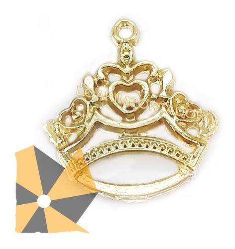 accesorios para bisuteria dijes metalicos corona llave x1000