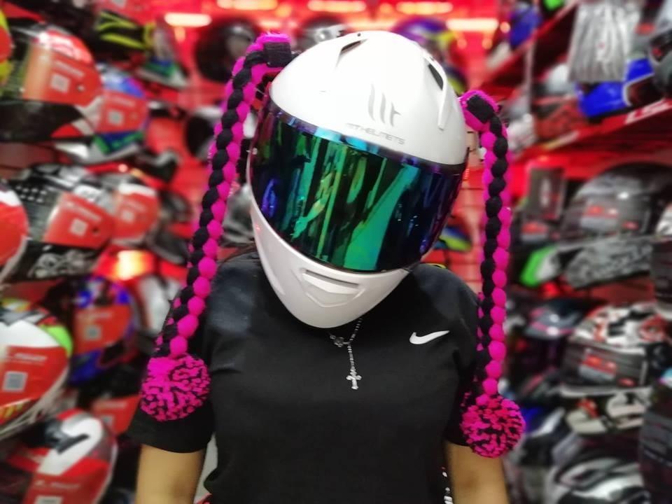 0cc5be1aa863 accesorios para cascos de mujer y de hombre para motos. Cargando zoom.