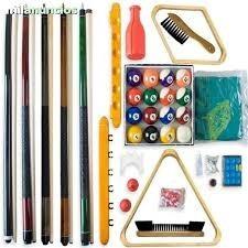 accesorios para mesa de  pool, billar, ping pong y futbolin