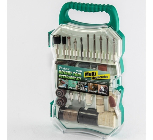 accesorios para mini torno puntas proskit pt 5100 109 piezas