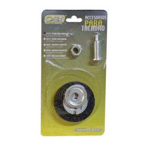Accesorios para taladro abrasivo piedra 105 mm obi 50 for Accesorios de bano sin taladro