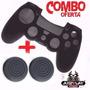 Combo Forro Protector + Gomas Playstation 4 Negro/azul