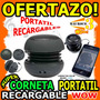 Wow Mini Corneta Portatil Recargable Hamburguesa Unicas Mp3