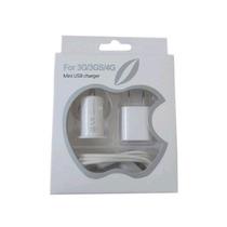 Kit Cargador Iphone Ipod Touch Adaptador Carro Usb Cable