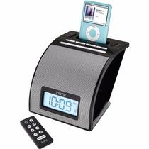 Altavoz Reloj-despertador Con Dock Para Ipod Ihome Ih11