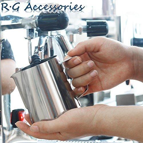 R.G Accessories Jarra para hacer espuma de leche acero inoxidable
