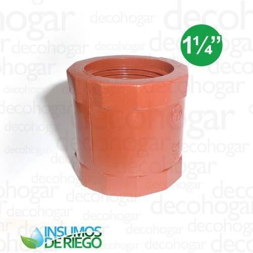 accesorios riego conexiones polipropileno cupla hembra 1¼