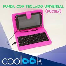 Forro Para Tablet 7 Con Teclado Variados Colores Coolook