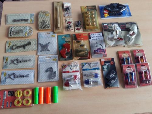accesorios tunning varios led tiras, etc... lote de 48 unid.