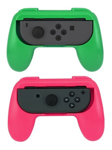 accesorios x2 nintendo switch grip para joy con splatoon