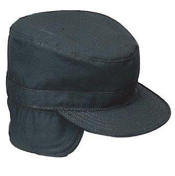 accesoriosrothco gi tipo combate cap con flaps, negro, ta..