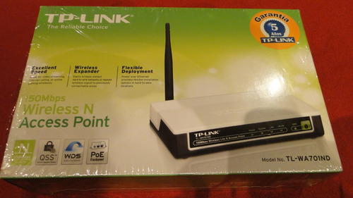 access point tplink tl-wa701nd, de 150 mbps 2.4ghz