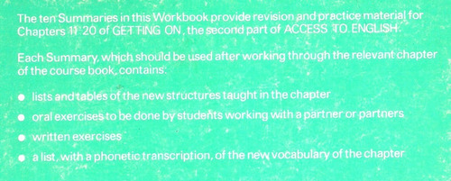 access to english getting on workbook b  oxford university