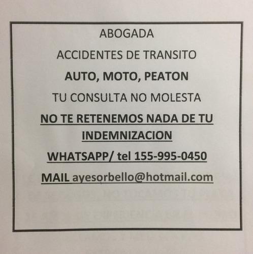 accidentes de tránsito y seguros. sin gastos