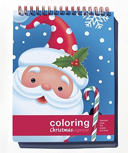 acción publishing colorear organizador de navidad (8,5 x 11