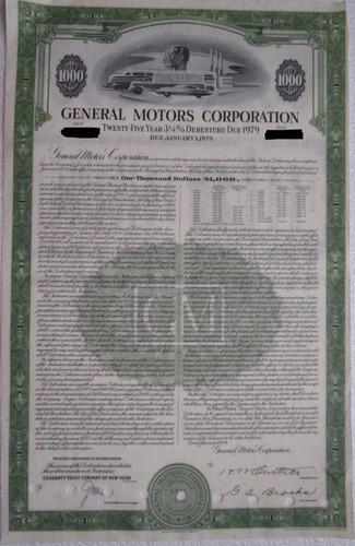 accion/bono general motors corporation 1954 !!