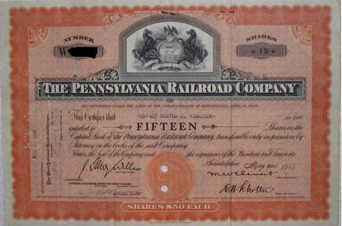 accion/bono the pennsylvania railroad company 1945 !!