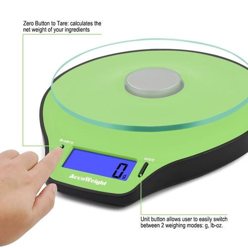 accuweight aw-ks004wb electrónico digital food kitchen escal