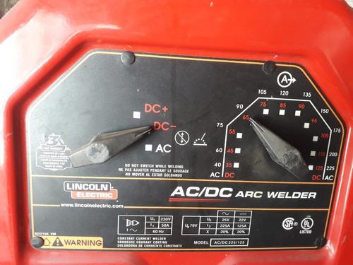 ac/dc 225/125 soldadora para electrodo revestido