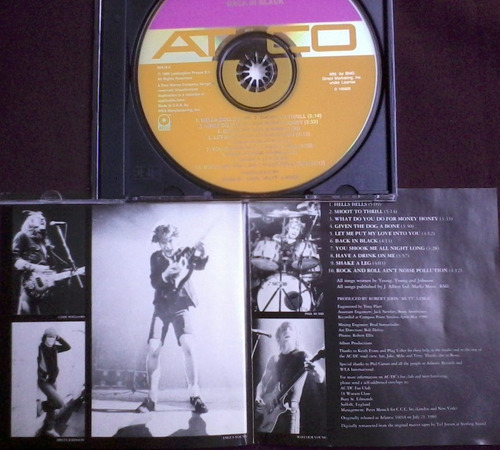 ac/dc - back in black cd heavy metal, hard rock kiss
